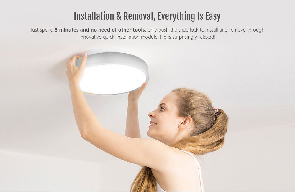 Yeelight YLXD01YL Intelligent LED Ceiling Lamp Dust Resistance Wireless Dimming Support Google Home 320 28W AC 220V - White International Version