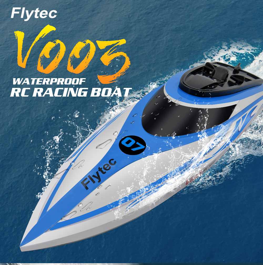 Flytec V003 2.4GHz Waterproof RC Racing Boat 30+km/h High Speed / ​​Self-righting- Blue