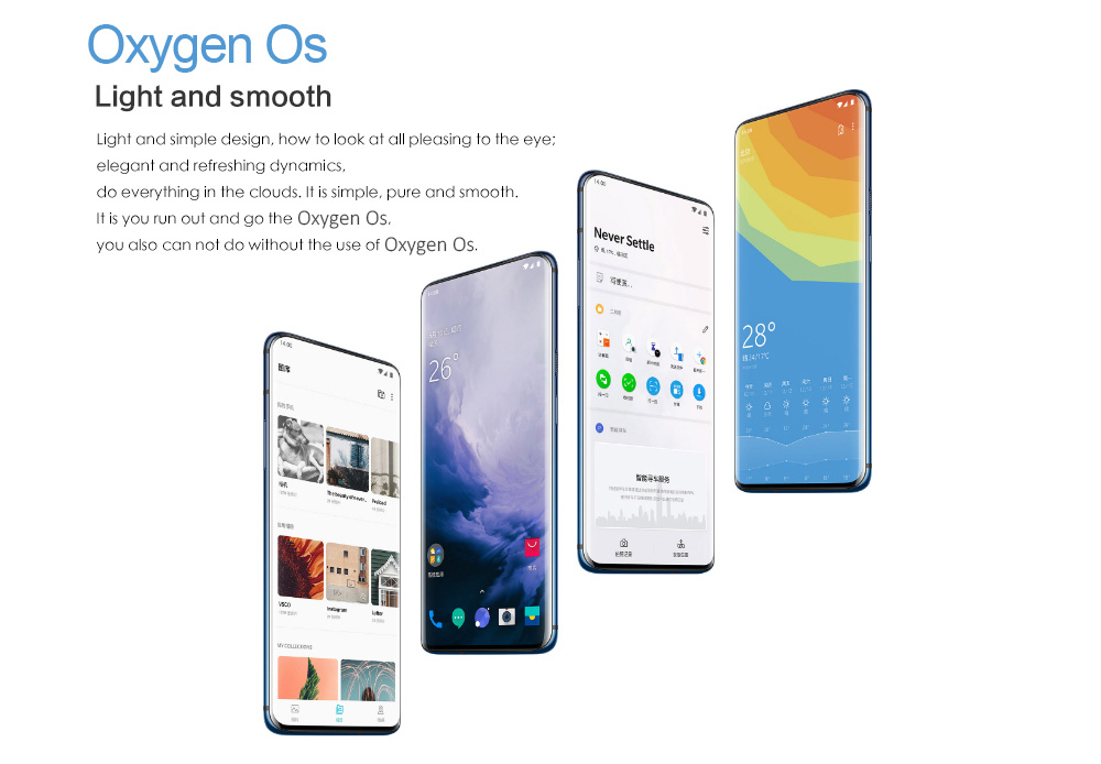 OnePlus 7 Pro 4G Phablet 6.67 inch Android 9.0 Snapdragon 855 Octa Core 2.84GHz 12GB RAM 256GB ROM 48.0MP + 16.0MP + 8.0MP Rear Camera 4000mAh Battery- Blue