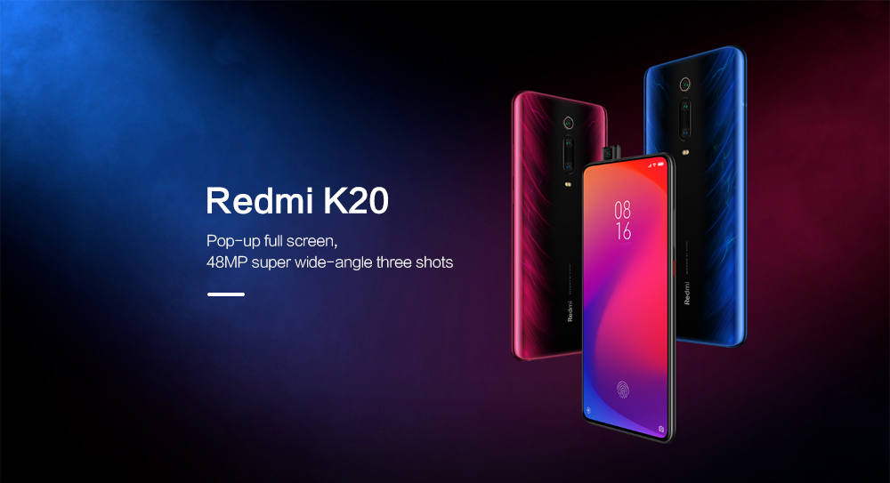 Xiaomi Redmi K20 4G Phablet 6.39 inch MIUI 10 Snapdragon 730 Octa Core 2.2GHz 8GB RAM 256GB ROM 48.0MP + 13.0MP + 8.0MP Rear Camera 4000mAh Battery- Blue