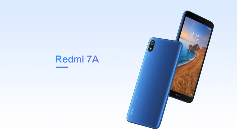 Xiaomi Redmi 7A 4G Smartphone 5.45 inch MIUI 10 Snapdragon 439 Octa Core 2.0GHz 2GB RAM 32GB ROM 13.0MP Rear Camera 4000mAh Battery- Blue