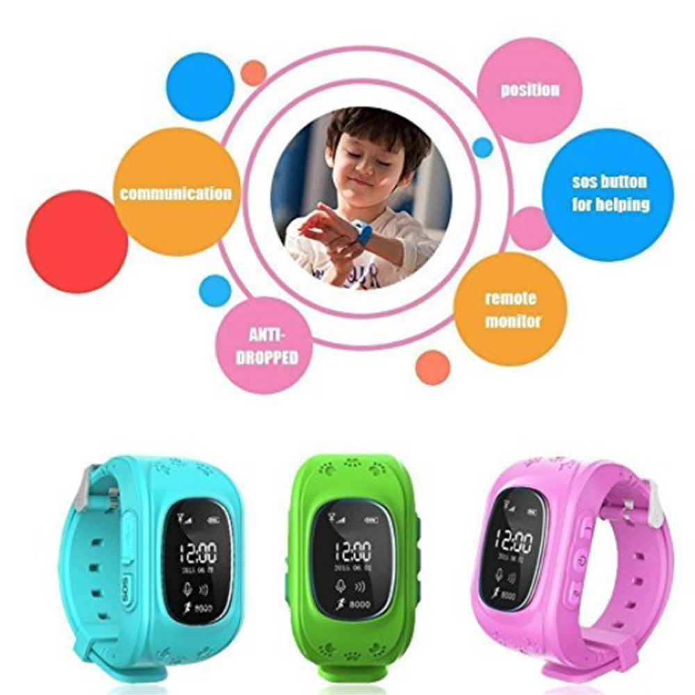 Q50 Children's Intelligent Positioning Watch- Yellow Green