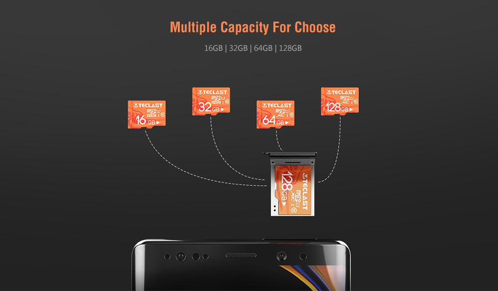 Teclast High Speed Large Capacity Waterproof Micro SD / TF Card UHS - 1 U1- Light Salmon 32GB