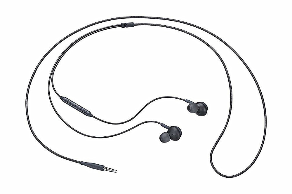 3.5mm Wired In-line Earphones Stereo Earbuds for Samsung Galaxy S10/S9/S8- Black
