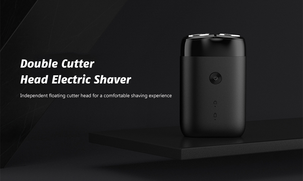 Xiaomi Mijia MSX201 Men Rotating Double Cutter Head Electric Shaver - Black