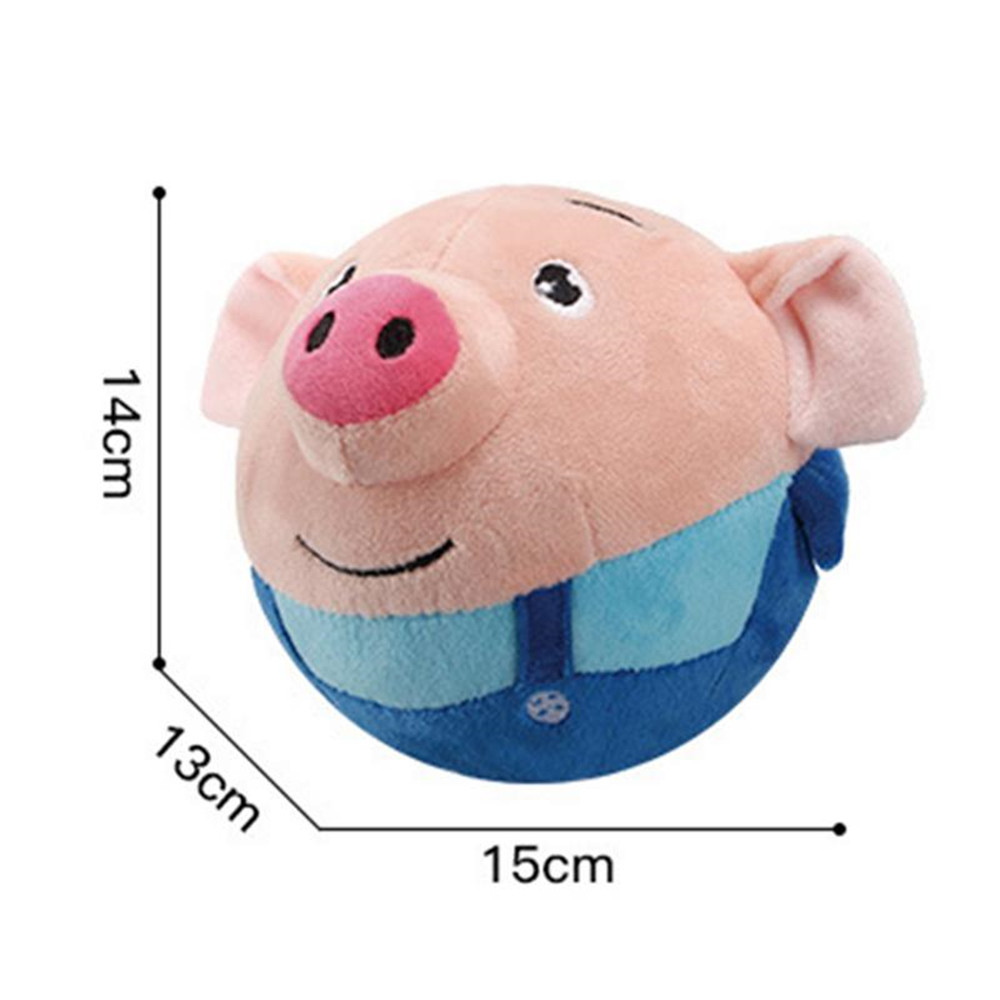 Usb Charging Version Children Seaweed Pig Bread Superman Plush Jumping Ball Toy- Multi-A