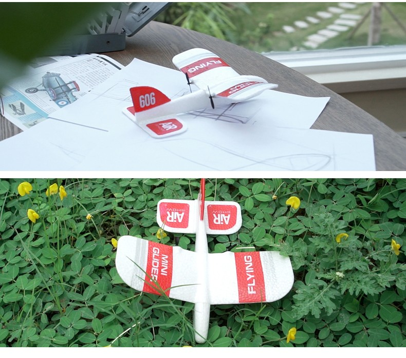 KF606 2.4GHz 2CH EPP Mini Indoor RC Glider Airplane - RTF Built-in Gyro- White One Battery