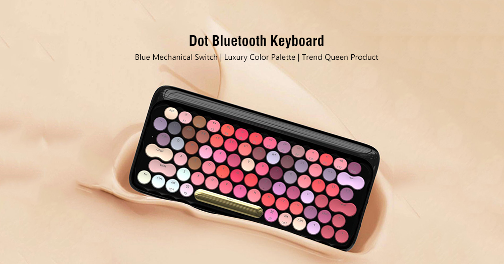 LOFREE EH112S Mechanical Keyboard 79 Key Bluetooth / Wired Dual Mode Blue Switch from Xiaomi youpin- Multi