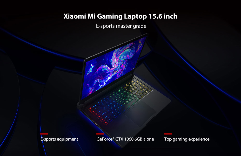 Xiaomi Mi Gaming Laptop 15.6 inch Windows 10 Intel Core i7-8750H 6 Core2.2 - 4.1GHz GTX 1060 16GB + 512GB SSD- Dark Gray