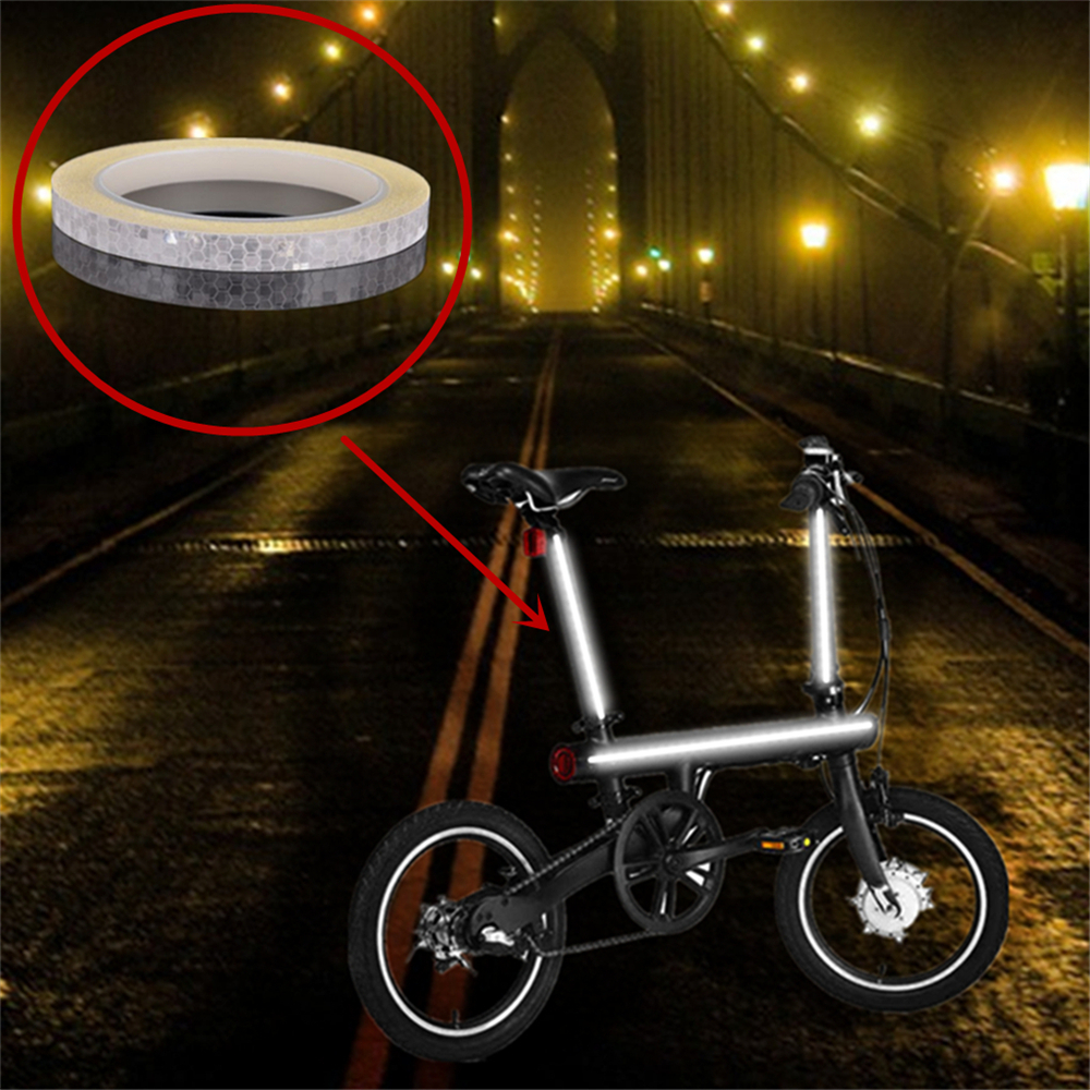 Scooter Bicycle Bike Car Motorcycle Reflective Stickers Night Riding Safety Tape - Cobalt Blue