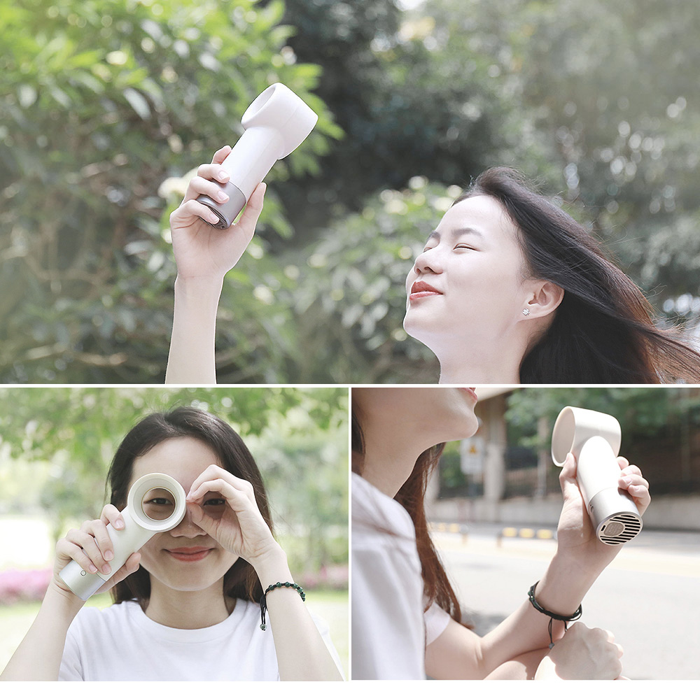 R2 Creative Safe Handheld Bladeless Fan from Xiaomi youpin- White