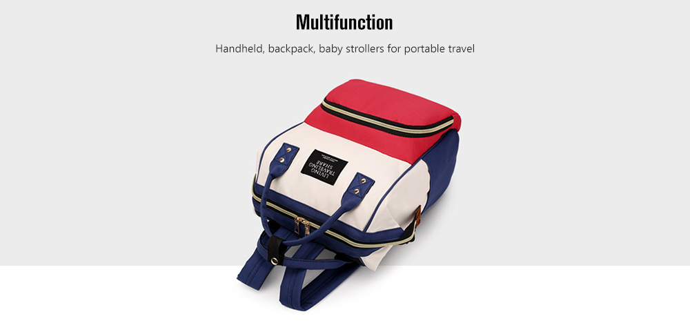 Z089 Multi-function Fashion Mummy Bag Oxford Cloth Portable Outdoor Leisure Backpack- Graphite Black