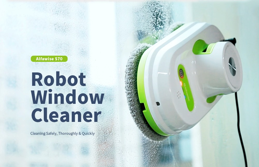 New High-Quality Auto Window Cleaning Robot UPS Glass Cleaner Remote Control IT