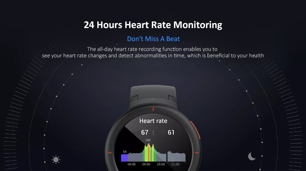 AMAZFIT Verge Smart Watch Multifunctional International Version with TPU Band ( Xiaomi Ecosystem Product )- Carbon Gray