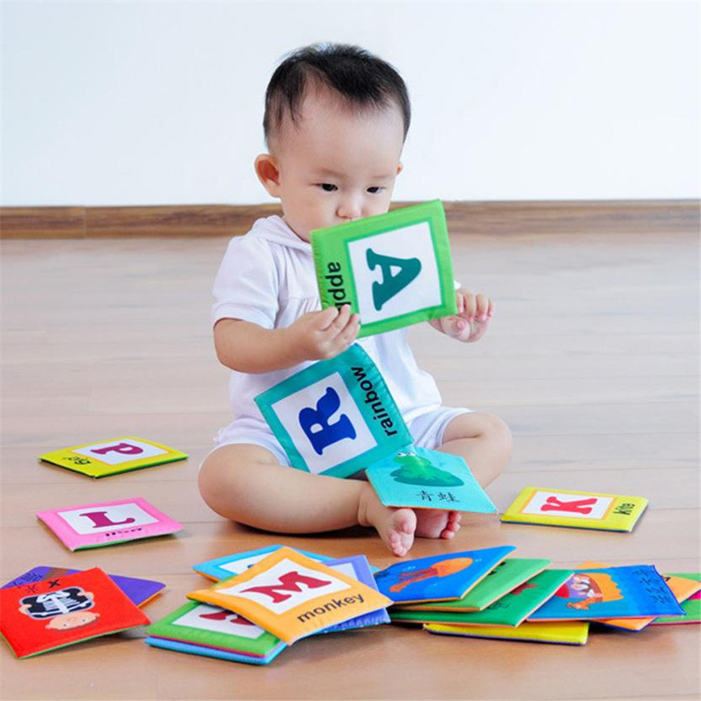 Early Childhood Education Book Safe and Non-toxic Cloth Children Toy- Multi
