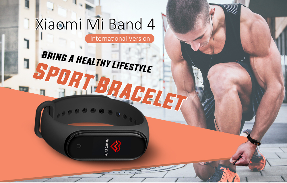 Xiaomi Mi Band 4 Smart Armband Bluetooth 5.0 5ATM Wasserdichte Sport Smartwatch - Schwarz