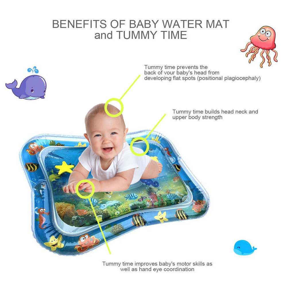 Baby Patted Inflatable Water Game Pad- Blue