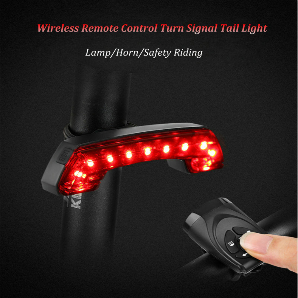 USB Rechargeable Bicycle Cycling Rear LED Tail Light 3 Modes Outdoor Light Lamp