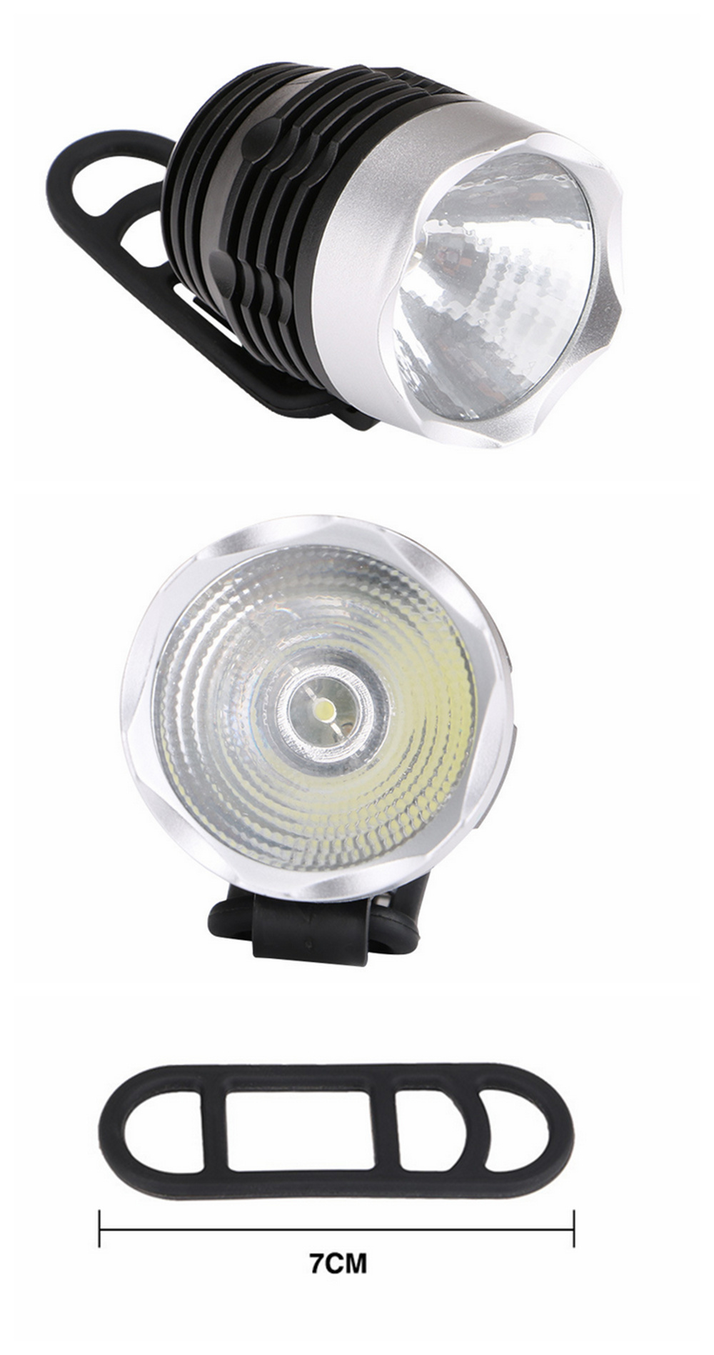 ZHISHUNJIA ZSJ-02 100LM 3-Mode Long-range Bicycle Headlights- Black