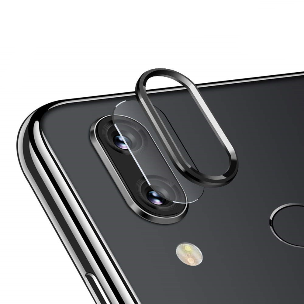 Camera Lens Protector Ring and Protective Film for Xiaomi Redmi Note 7/Note 7Pro- Black