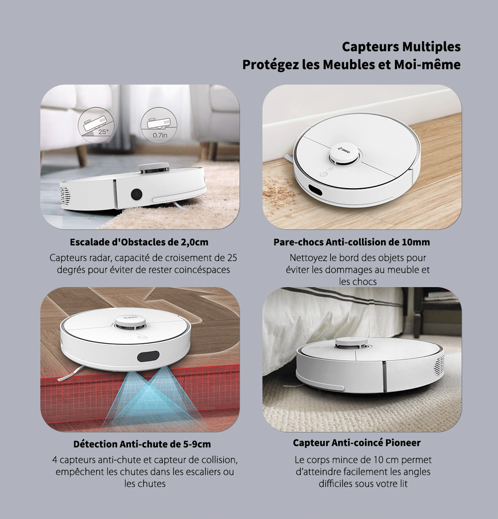 360 S5 Laser Navigation / Large Suction / Ultra-quiet / Map Memory Sweeping Robot - White