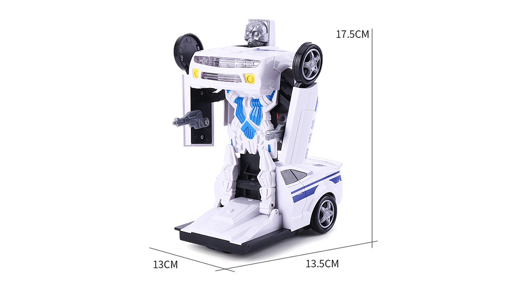 LEZHOU TOYS Multi-function Car Deformation 2-in-1 Puzzle Robot with Light Music- Yellow