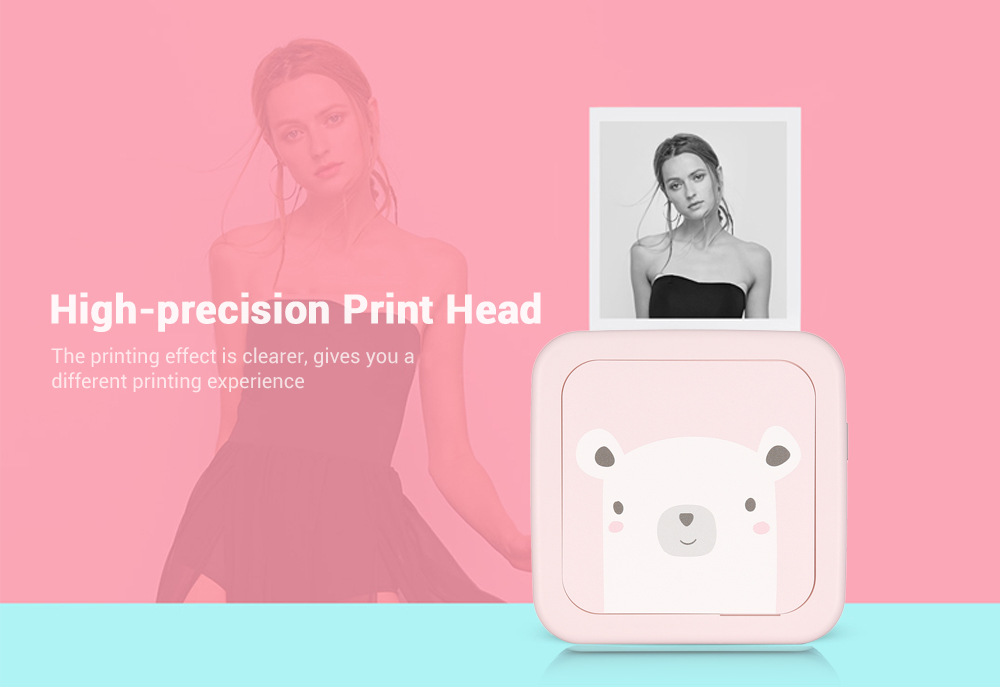 GOOJPRT GT1 Mini Bluetooth Paper Photo Printer Pocket Thermal Printing- Sakura Pink