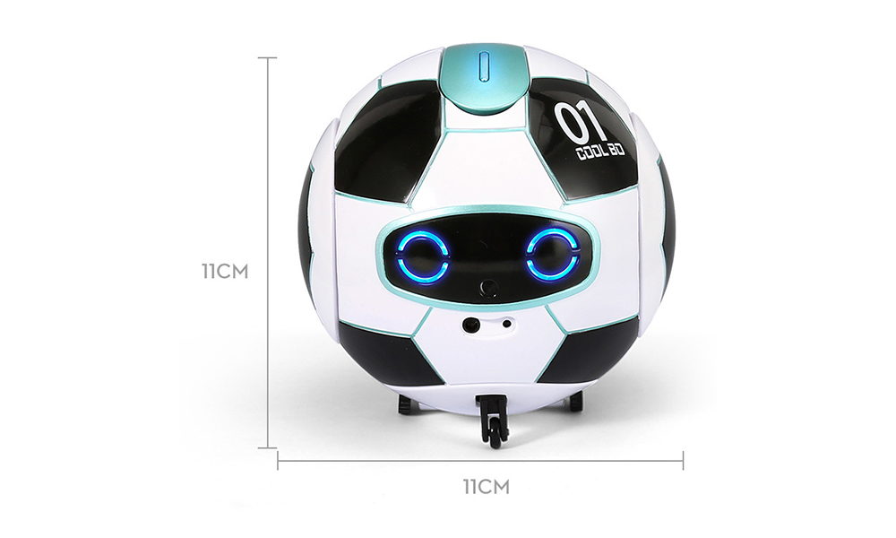 J01 Speech Recognition Version KUBO Ball Soccer Robot Will Sing And Dance- White