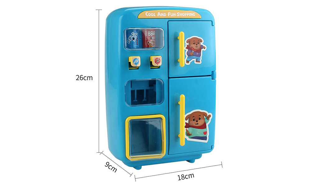 QC - 8B Electric Simulation Refrigerator Vending Machine Pretend Play Toy 31pcs- Red