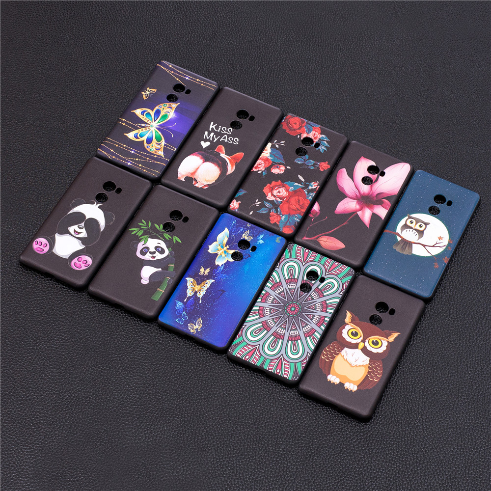 TPU Cartoon Embossed Painted Protective Phone Case for Xiaomi MX2- Multi-B