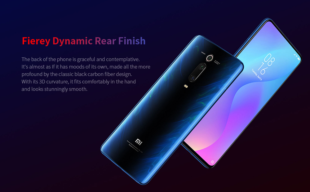 Xiaomi Mi 9T 4G Phablet 6.39 inch Snapdragon 730 Octa Core 6GB RAM 64GB ROM 48.0MP + 13.0MP + 8.0MP Rear Camera 4000mAh Battery - Blue