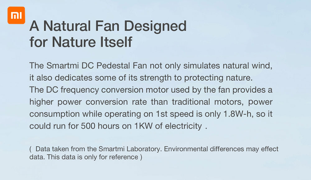 Smartmi ZLBPLDS03ZM DC Frequency Conversion Natural Wind Floor Fan With Battery ( Xiaomi Ecosystem Product )- White CN Plug without Battery
