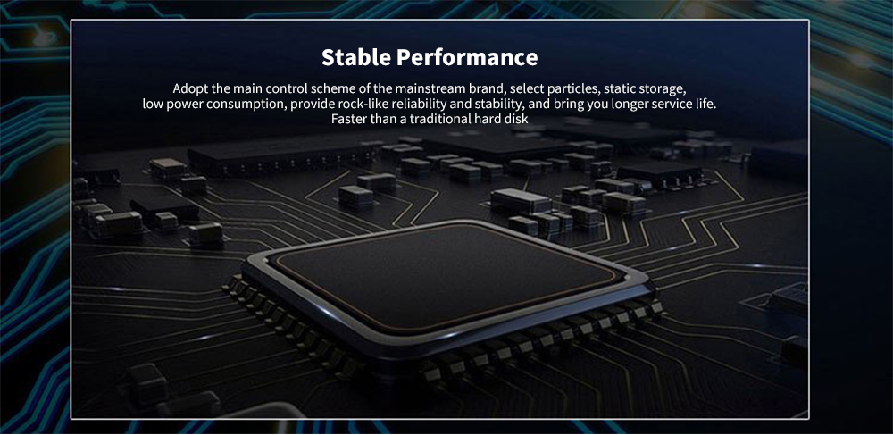 VASEKY V900 Mute Operation / Stable Performance / High Speed Loading M.2 NGFF Interface SATA Solid State Drive 480GB- Black