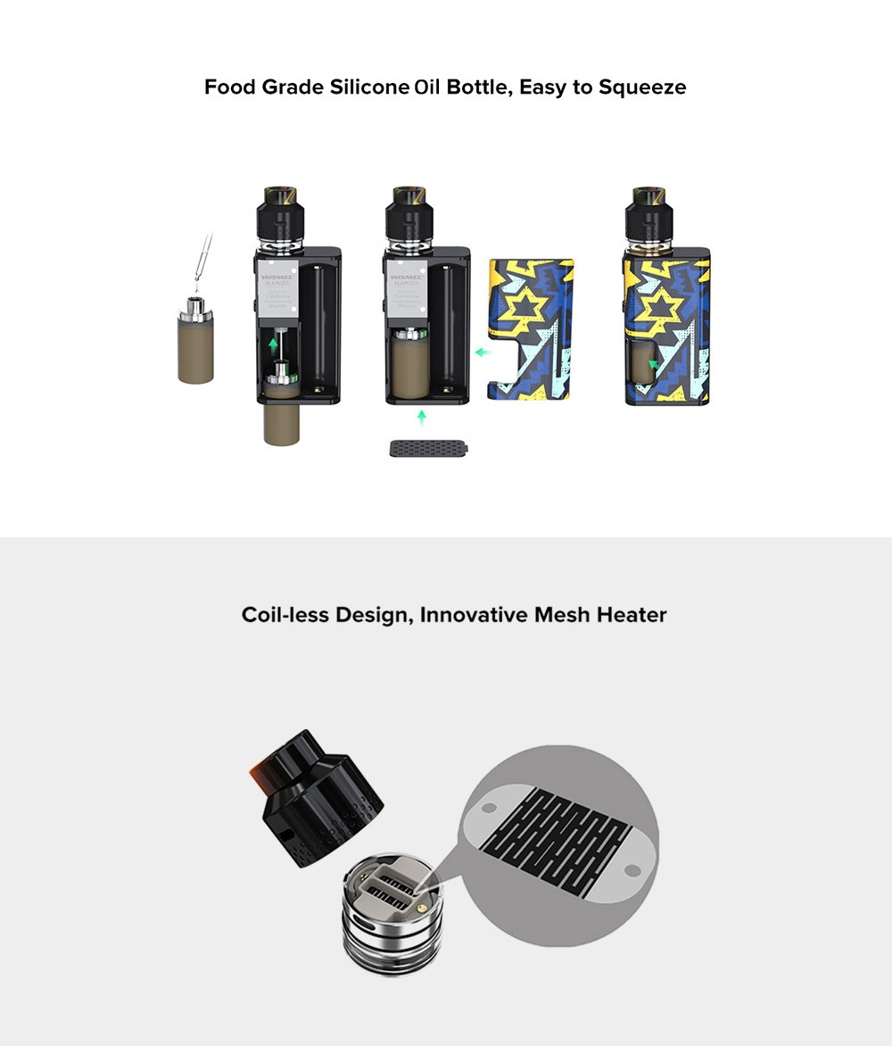 Wismec Luxotic Surface 80W Vapor Kit- Black Unistar