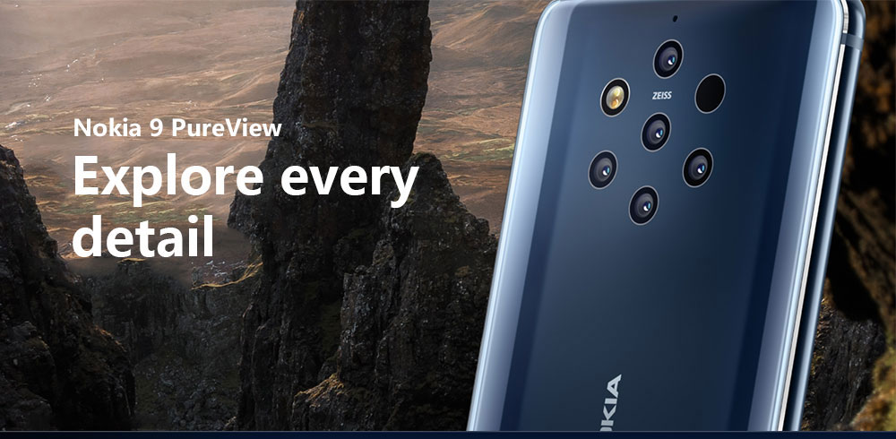 Smartphone 4G Nokia 9 PureView Version Internationale- Bleu