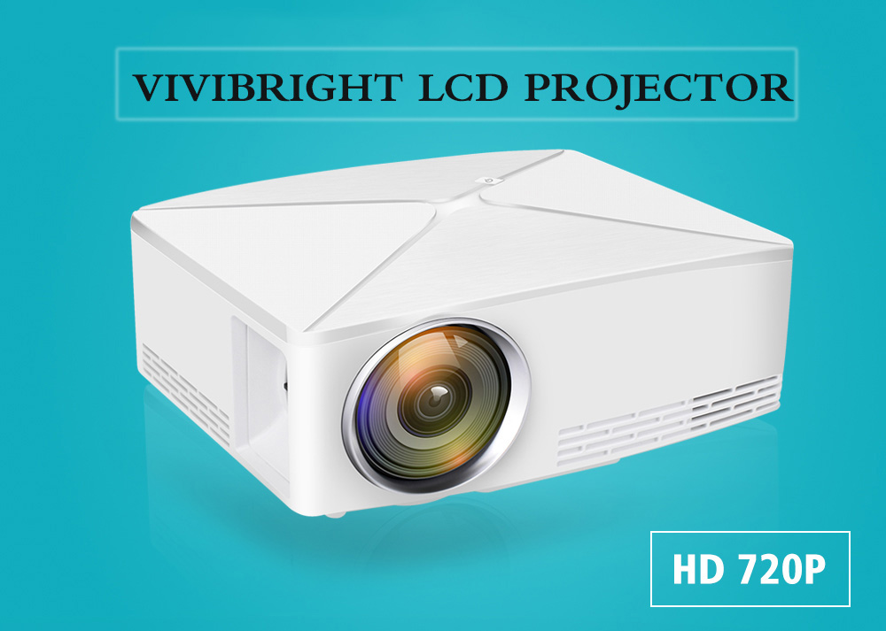 VIVIBRIGHT C80 UP LCD Home Theater Projector HDMI 1500 Lumens Support 1080P USB Android Bluetooth 4.0 for Laptop- White Android Version US Plug