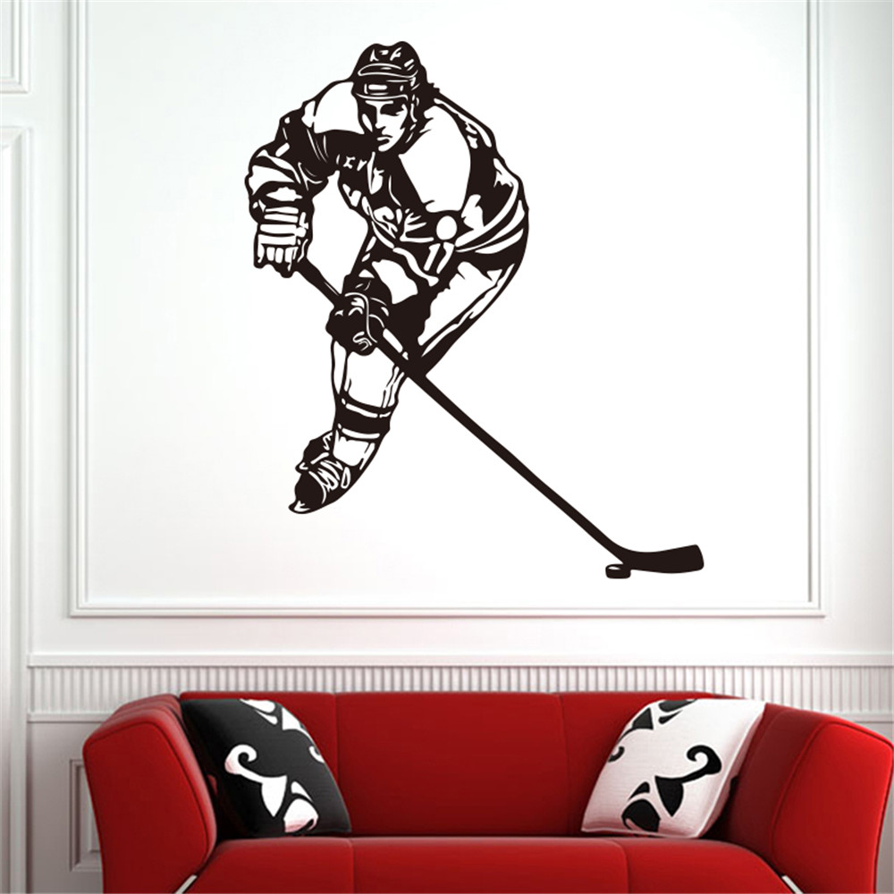 Hockey Generation Carved Removable Wall Stickers Gym- Multi-A 58x90cm