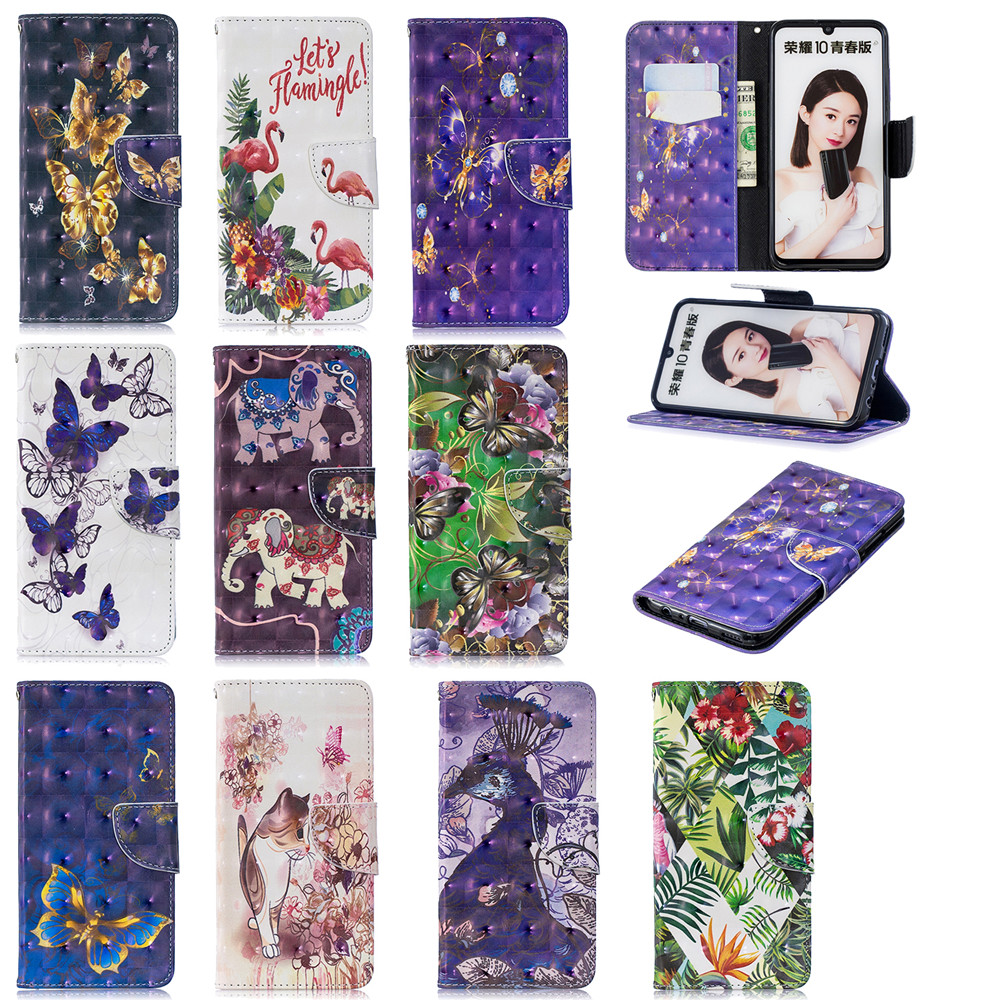 3D Painted Full Protection Phone Case for Huawei Honor 10 Lite- Multi-A