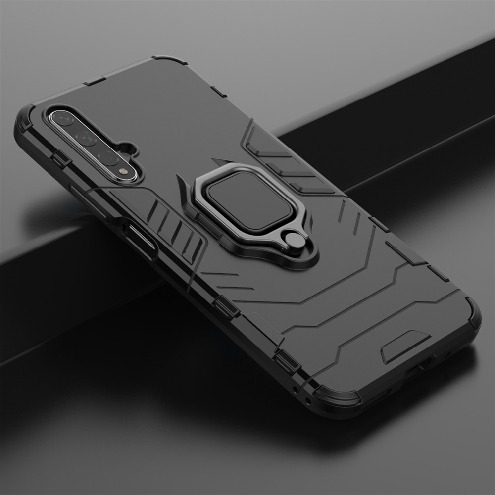 Ring Kickstand Armor Phone Case for Huawei Honor 20- Red