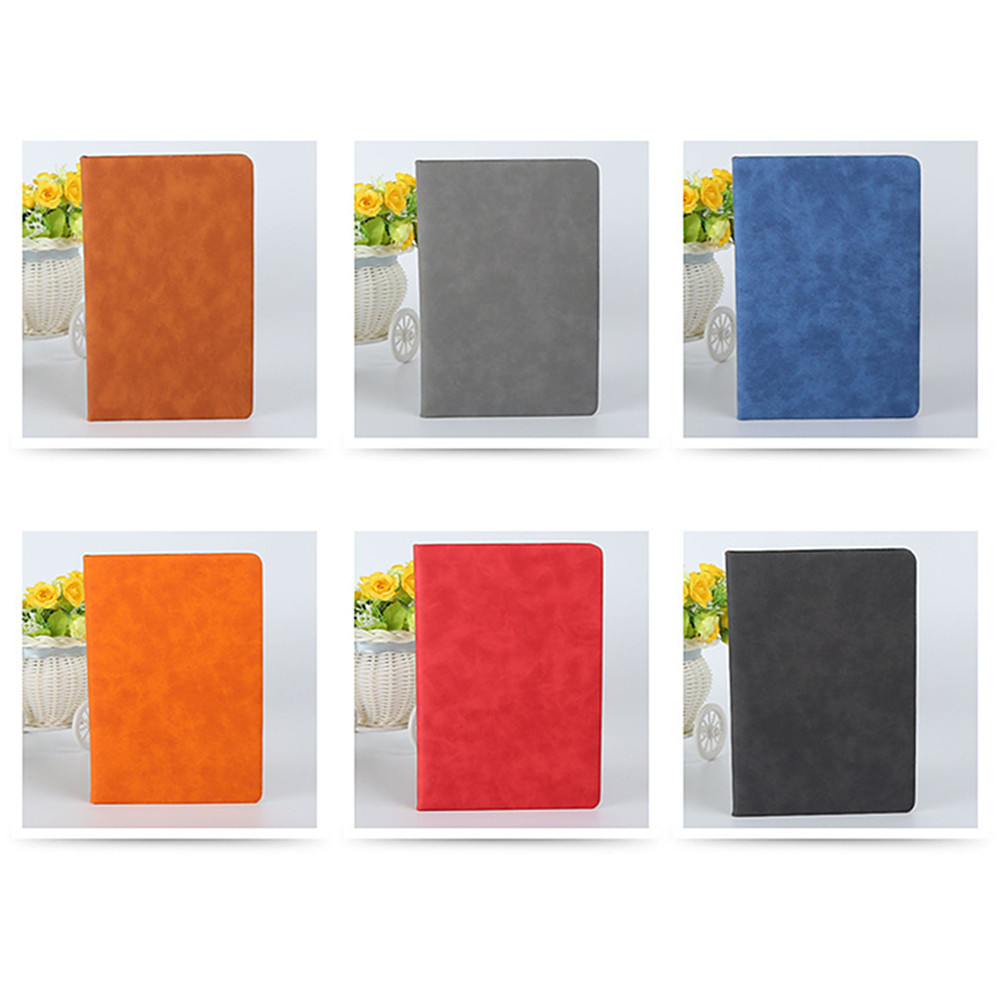 Professional Notebook Office PU Fabric Business Notebook- Black