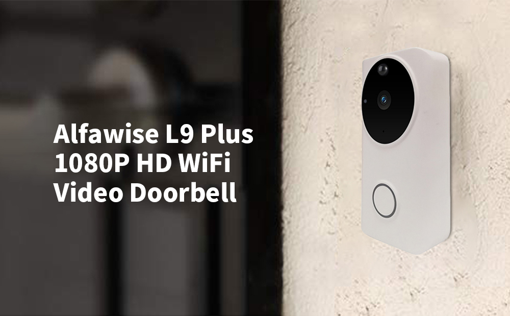 Campanello video HD WiFi Alfawise L9 Plus 1080P- Bianca