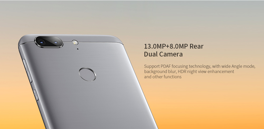 GOME S7 ( 2016M25A ) 4G Phablet 5.7 inch Android 7.0 MTK MT6750 Octa Core 4GB RAM 64GB ROM 13.0MP + 8.0MP Rear Camera 4000mAh Battery- Blue Gray