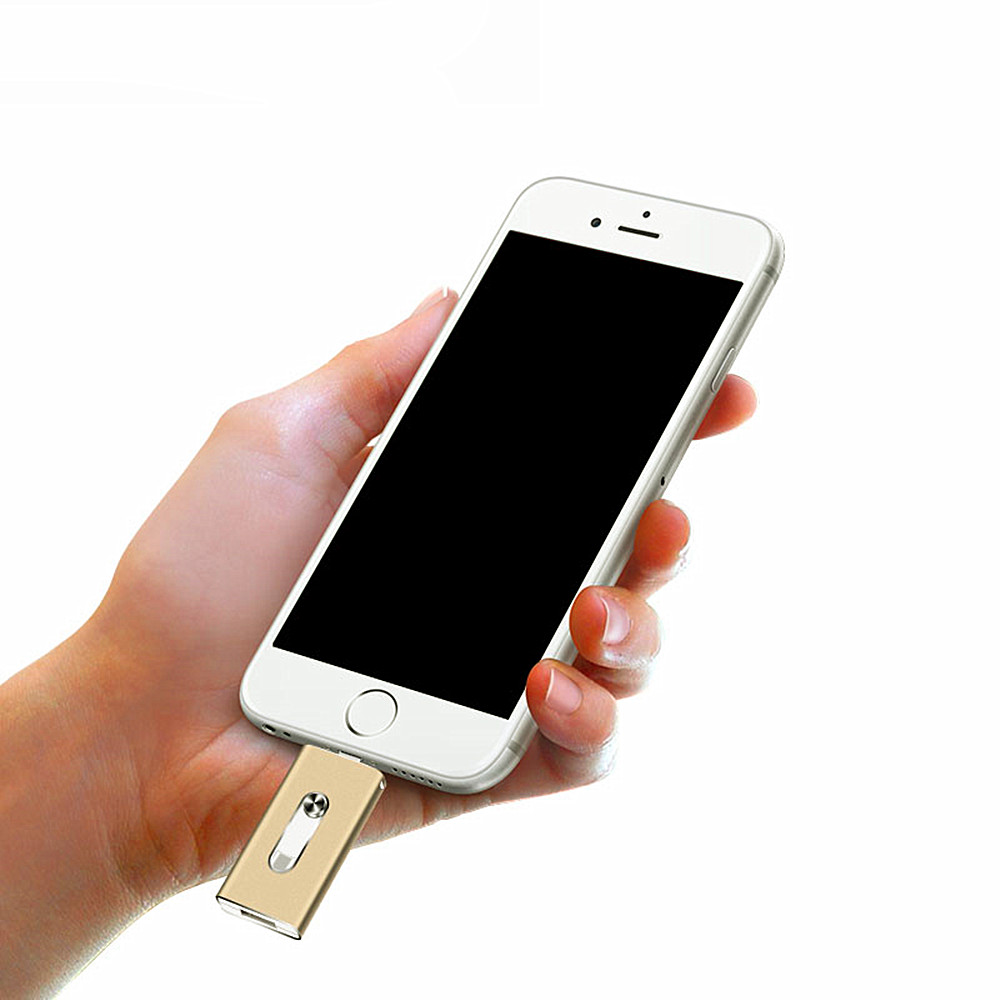 USB 3 in 1 Metal U Disk per IOS / Android / PC- Argento 8G