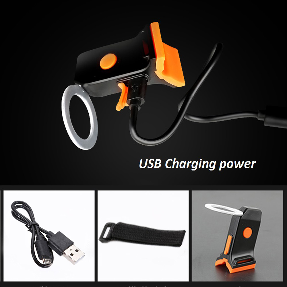 Multi-Mode Bicycle USB Charging Taillights Mountain Bike Saddle Rear Flash - #005