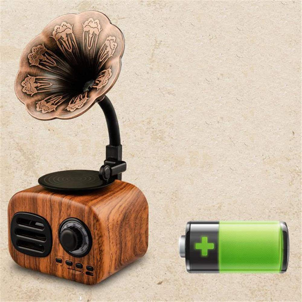 Small Portable Bluetooth Speaker Retro Vintage Phonograph Shape- Multi-A