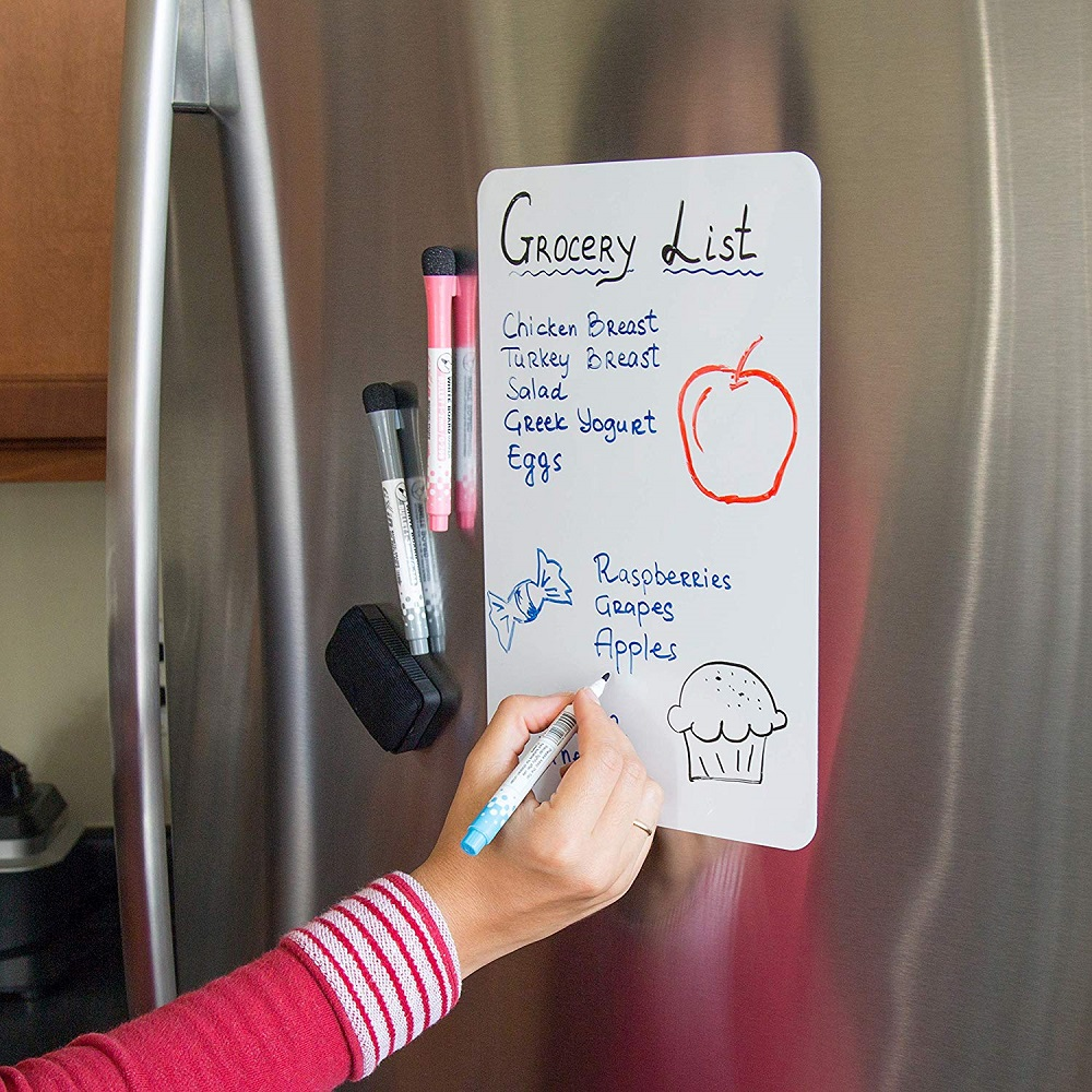 Magnetic Refrigerator Whiteboard 11.7x 8 Inch- White