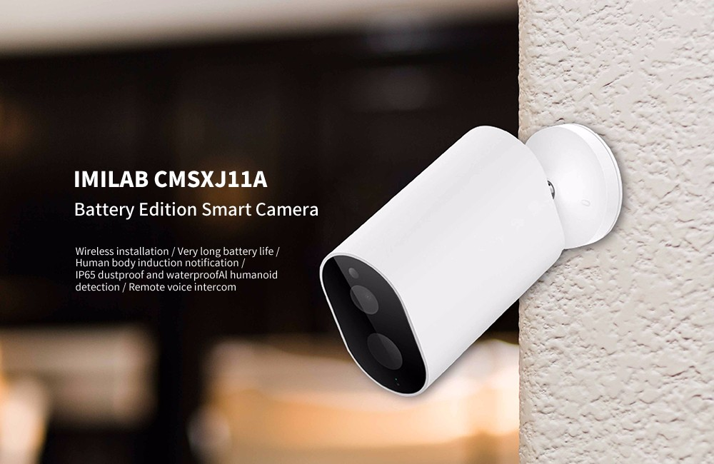 IMILAB CMSXJ11A Battery Edition / Stable Signal / AI Humanoid Detection / IP65 Smart Camera ( Xiaomi Ecosystem Product )- White