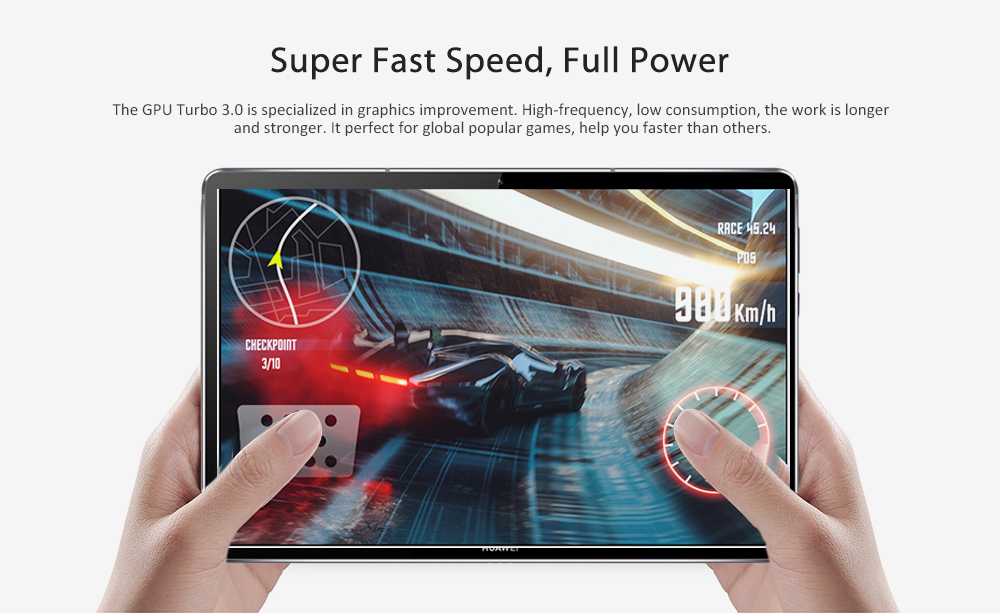 Tablette HUAWEI M6 4G remise à neuf 10,8 pouces / Android 9.0 OS / Hisilicon Kirin 980 1,8 GHz Octa Core CPU / 13,0MP + 8,0MP Caméras - Platine 4 Go + 128 Go