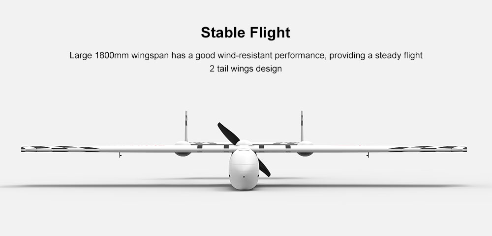 SONICMODELL 1.8m Wingspan RC Airplane - White PNP