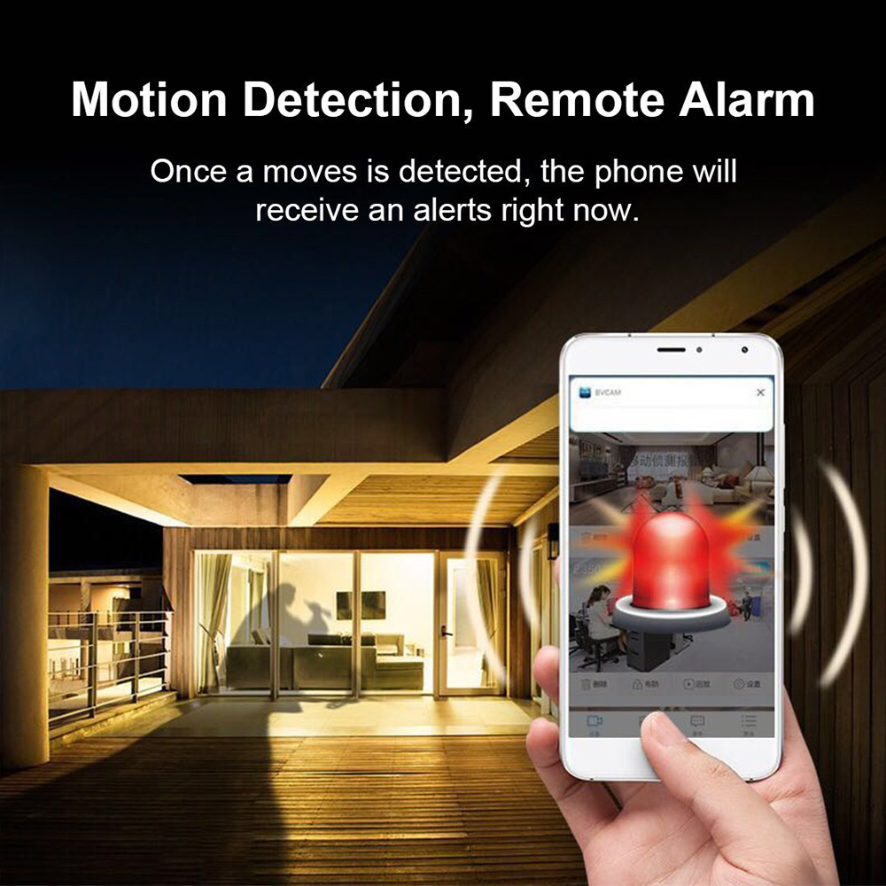 A9 Mini Wifi Home Security Motion Detect 1080P IR Wireless Video Recorder Camera- Black
